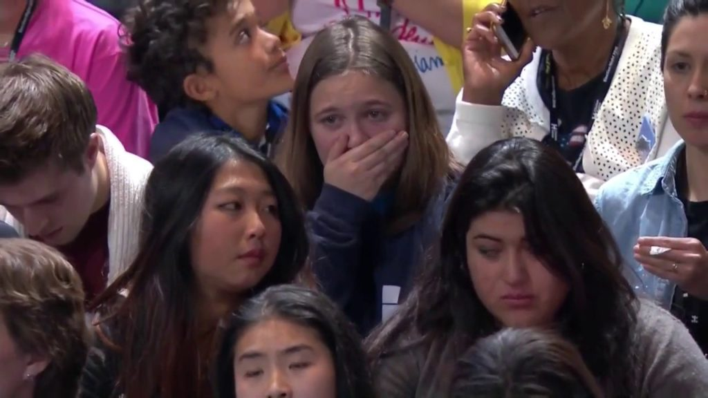 crying hillary supporters